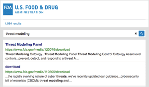 FDA recommends Threat Modeling in Cyber Security